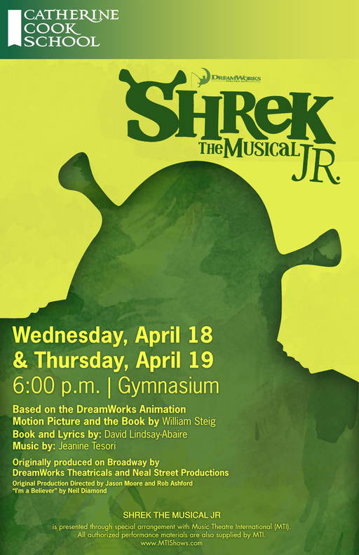 Shrek the Musical Jr: April 18-19